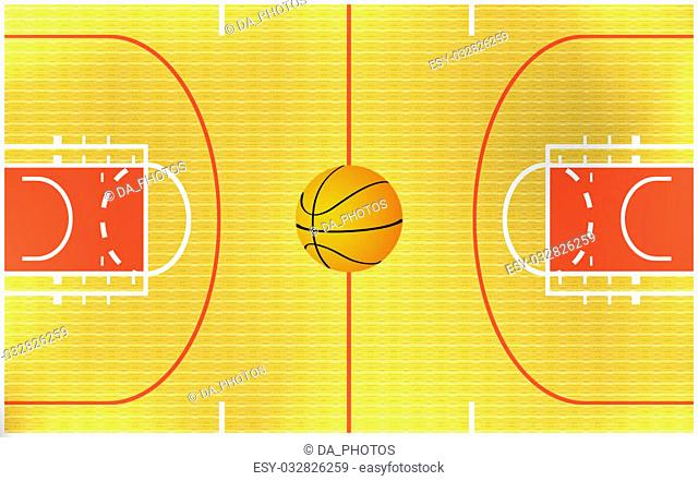 illustration of a basketball arena