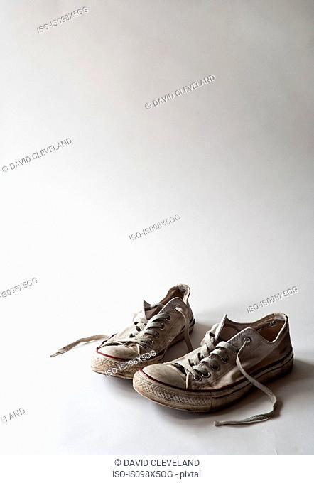 Pair of training shoes, studio shot