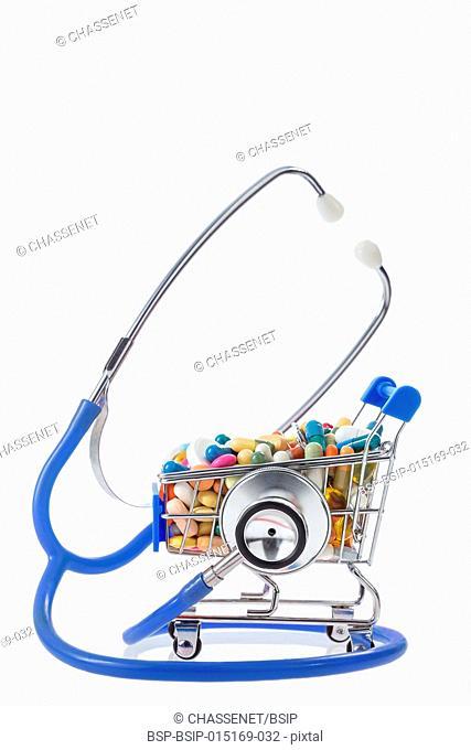Shopping cart full of drugs