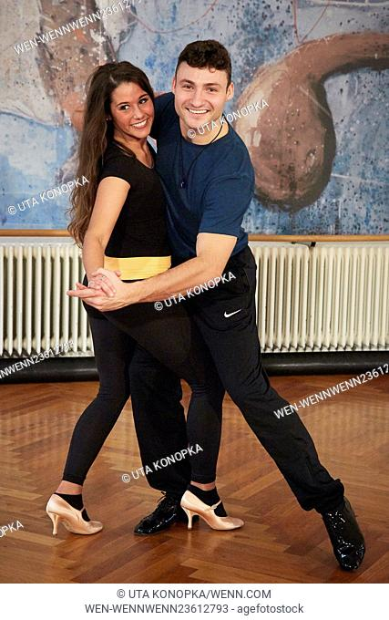 "Sarah Lombardi rehearsing for RTL TV show """"Let's Dance"""" with professional dancer Robert Beitsch at Tanzschule Dans-Project"