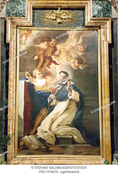 Saint Louis Bertrand in ecstasy, (1673), Giovanni Battista Gaulli, known as Baciccia (1639-1709), oil on canvas, altarpiece of the Caffarelli chapel