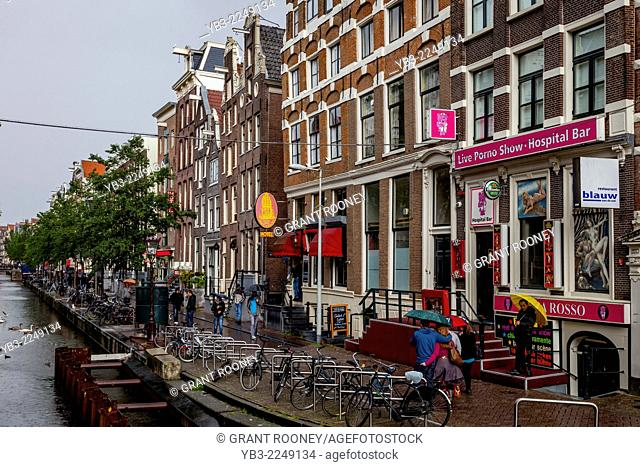 The Red Light District, Amsterdam, Holland