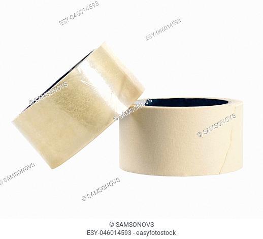 adhesive tape on white background, isolated