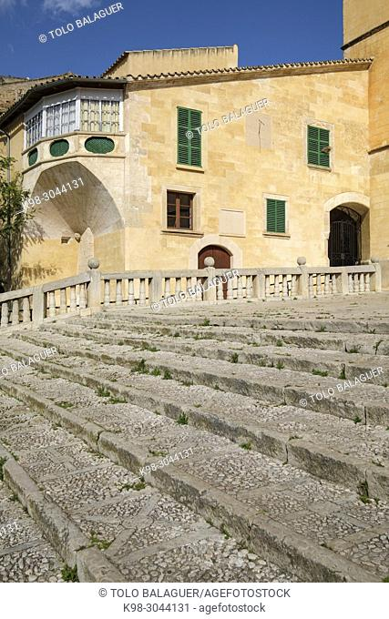 Iglesia de Santa María, , finales del siglo XIII, transición románico-gótica, Felanitx, Mallorca, balearic islands, Spain