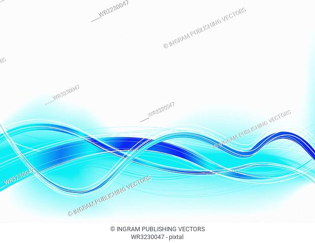 Blue and white abstract background with copy space