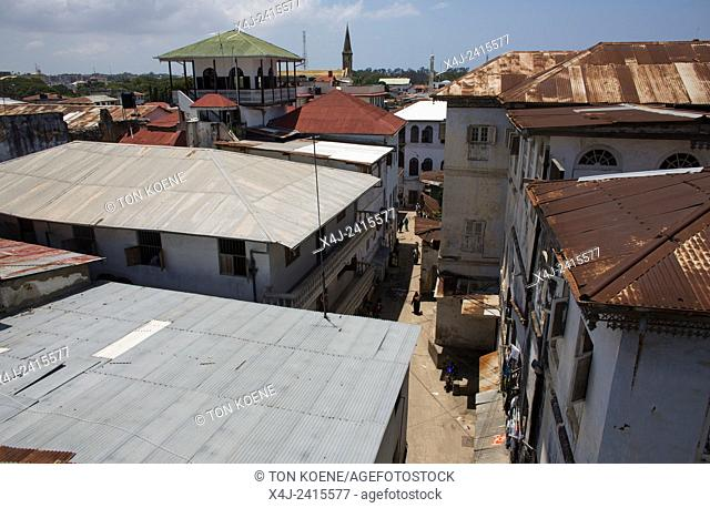 view on old stone town in Zanzibar