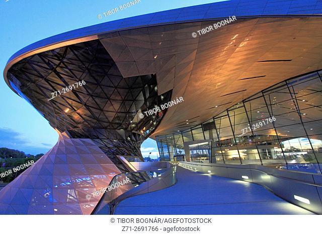 Germany, Bavaria, Munich, BMW Welt, BMW World, modern architecture,
