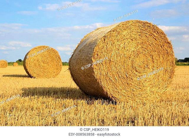 Straw on a field