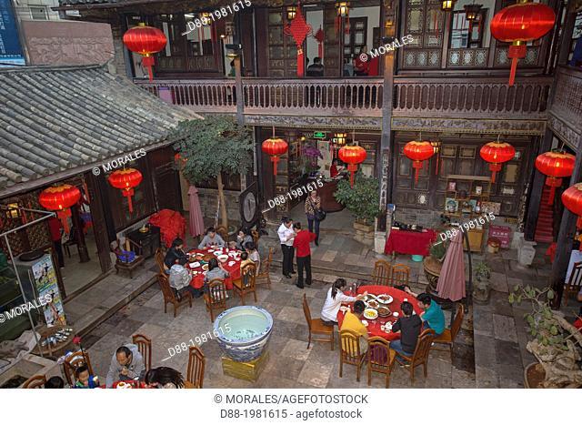Traditional restaurant, Kunming, Yunnan, China