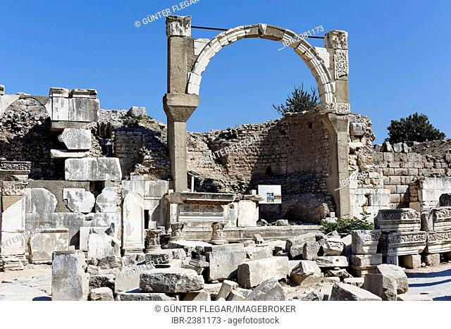 Polio Fountain, UNESCO World Heritage Site, Ephesus, Ephesos, Efes, Izmir, Turkish Aegean, western Turkey, Turkey, Asia