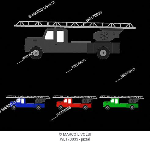 firefighter truck icon