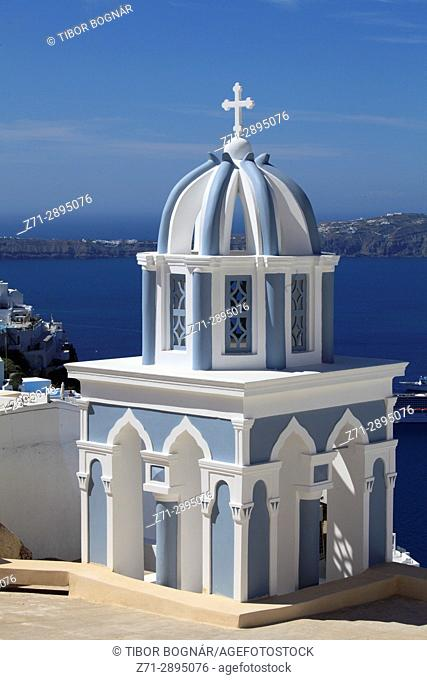 Greece, Cyclades, Santorini, Firostefani, church,