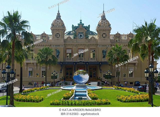 Casino and the Jardins de Boulingrins with Anish Kapoor's Sky Mirror sculpture