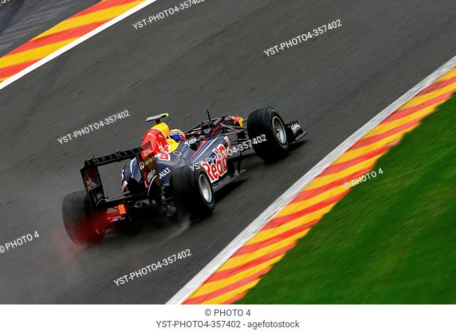 Friday Practice 2, Mark Webber AUS, Red Bull Racing, RB7, Belgian Grand Prix, Francorchamps