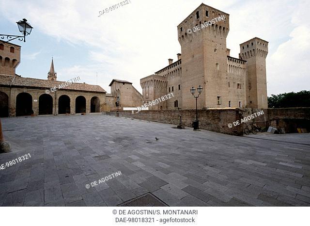 Glimpse of the fortress of Vignola, Emilia-Romagna. Italy 12th century