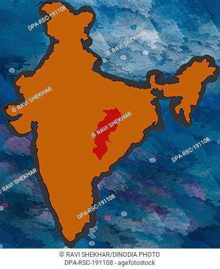 Illustration chhattisgarh Location map India
