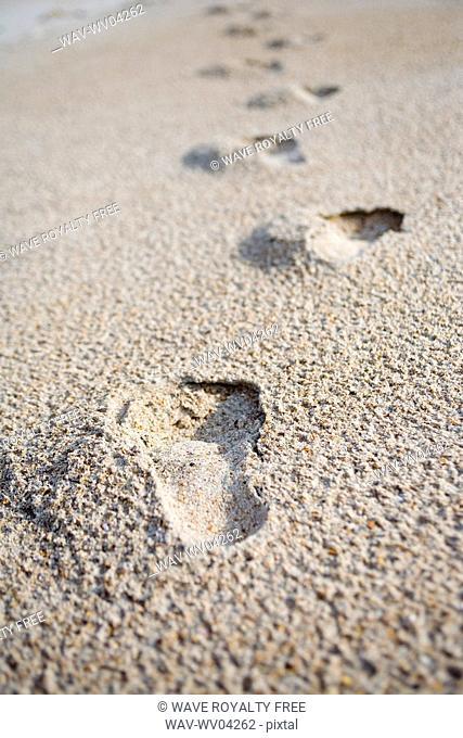 Footprints on sand, Jacksonville, Florida