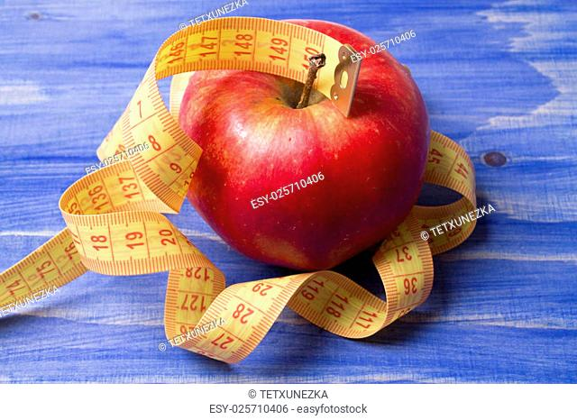 Tape measure with apple