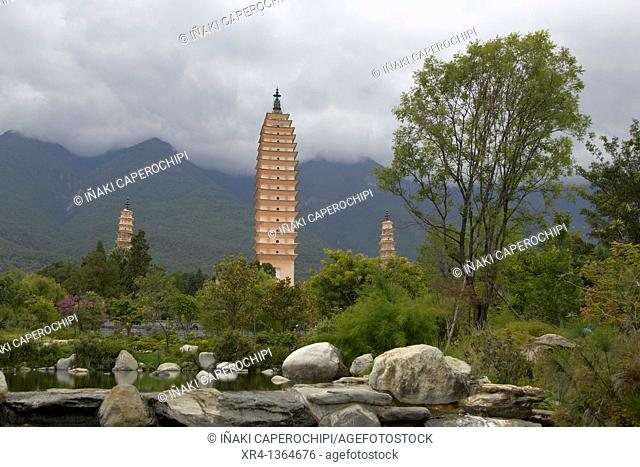 Temple of the Three Pagodas Chonsheng, Dali Bai Autonomous Prefecture of Dali, Yunnan, China