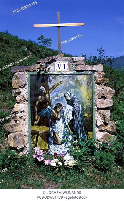 garanbandal, at the short walk to the pinos, you will find severall memorials