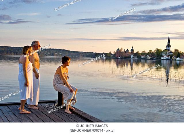 Relaxing after sauna bath, Sweden