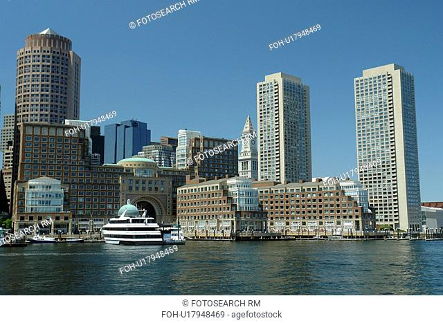 Boston, MA, Massachusetts, Downtown Skyline