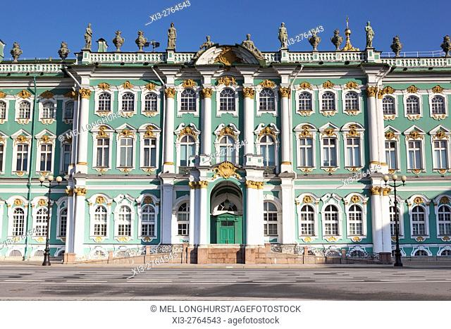 The Winter Palace, Hermitage Museum, from Palace Square, St Petersburg, Russia