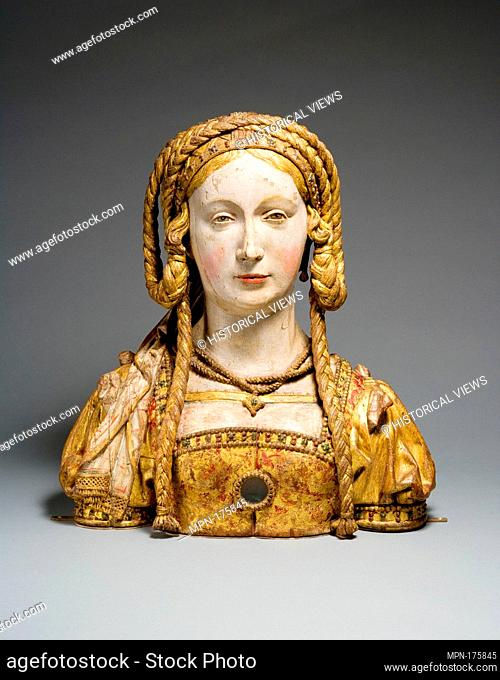 Reliquary Bust of Saint Balbina. Date: ca. 1520-30; Geography: Made in possibly Brussels, Belgium; Culture: South Netherlandish; Medium: Oak, paint