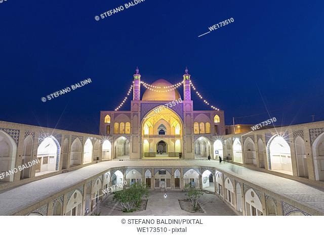Mosque Masjed-e Agha Bozorg, Kashan, Iran