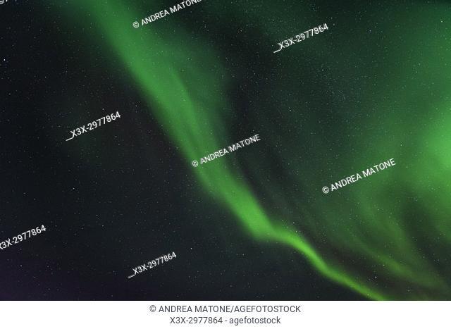 Aurora Borealis. Northern Lights. Sommaroy isaland, Norway