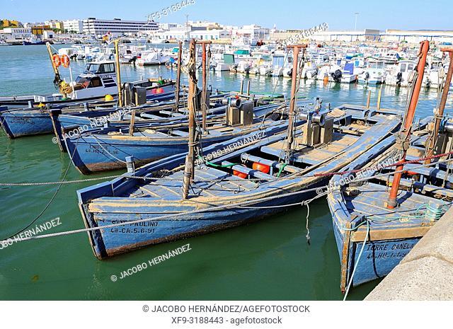 Almadraba boats. Barbate. Cádiz provice. Andalucía. Spain