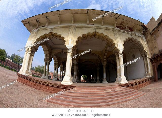 Diwan-i-Am, Hall of Public Audiences, Red Fort, Agra, UNESCO World Heritage Site, Uttar Pradesh, India