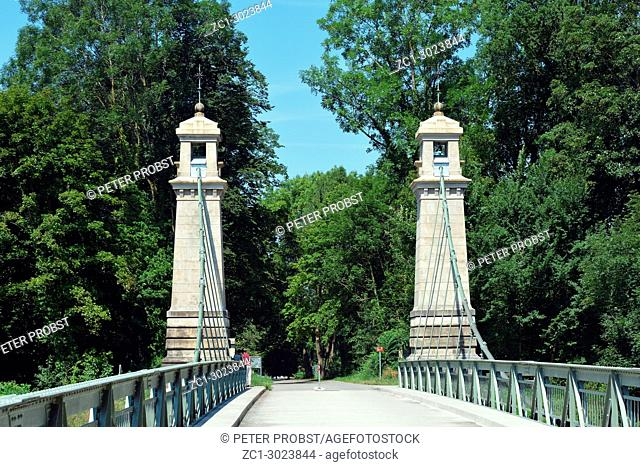 Suspension bridge of Langenargen near Lake Constance - Germany