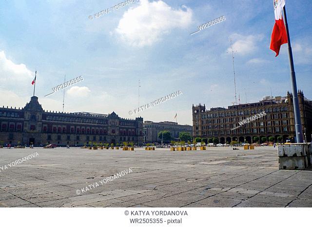 Constitution Square (Zocalo), Mexico city, Mexico