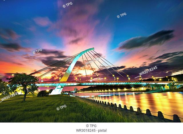 Taipei,Dazhi bridge,sunset