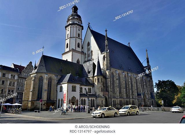 Thomaskirche, Thomaskirchhof, Leipzig, Sachsen, Deutschland