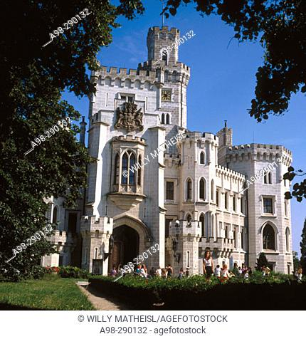 Hluboka Castle (13th century). Hluboka nad Vltavou. South Bohemia. Czech Republic