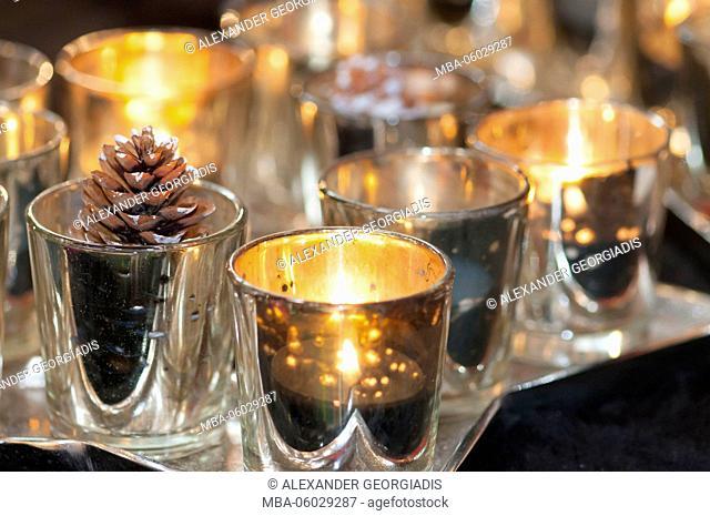 Starlights, candles, Christmas