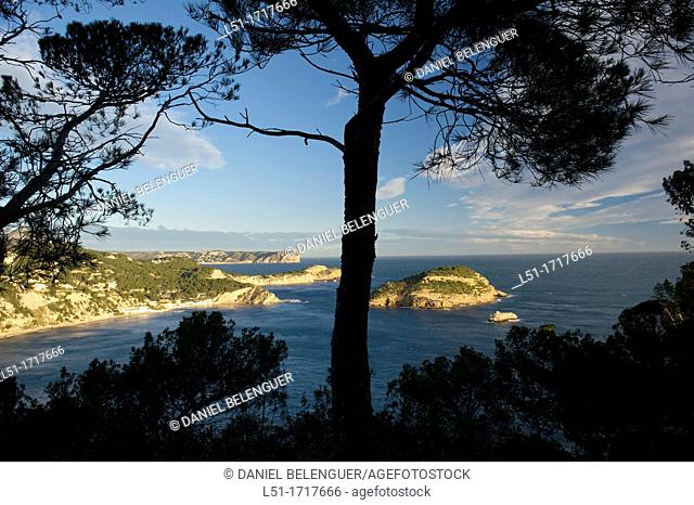 Coastline of North Alicante, Portixol island and Nao cape, Jave, Alicante, Spain