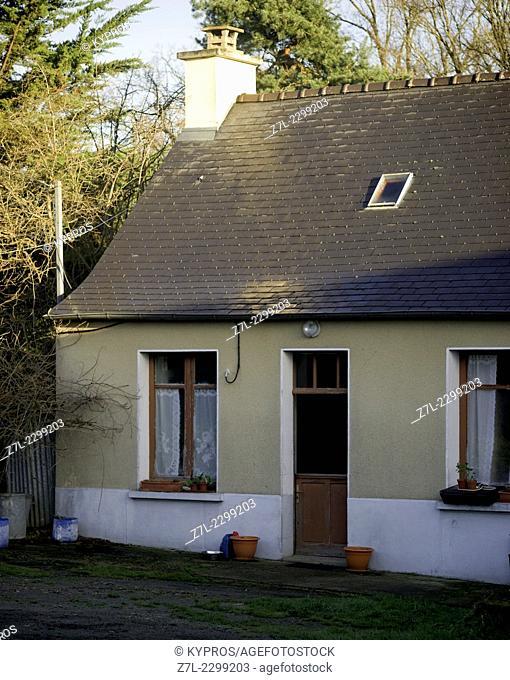 Brittany Farmhouse Door Nobody Rustic Rural Door Entrance Doorway France Europe French