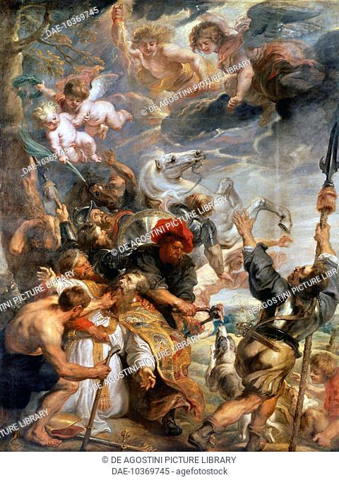 Martyrdom of St Livino, by Peter Paul Rubens (1577-1640), oil on canvas. Belgium, 17th century.  Antwerp, Koninklijk Museum Voor Schone Kunsten (Royal Museum Of...