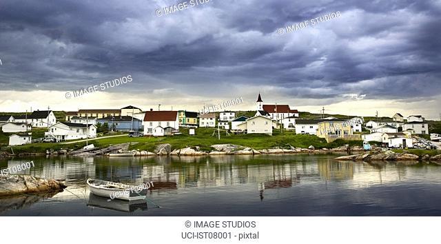 Clouds over village in Nova Scotia