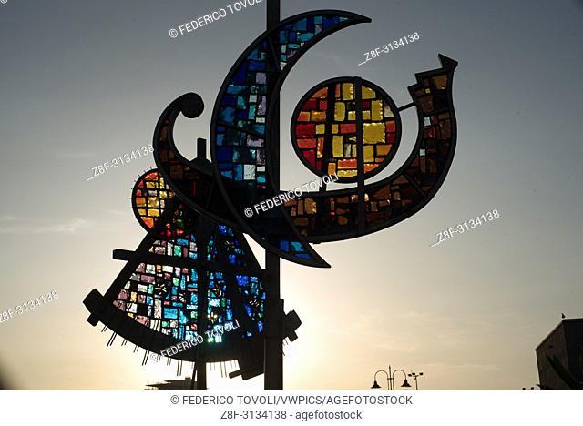 Portoferraio. Glass artwork of Italo Bolano, famous local artist