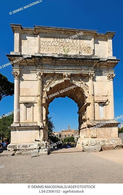 Arch of Titus Palatine Hill Rome Italy IT EU Europe