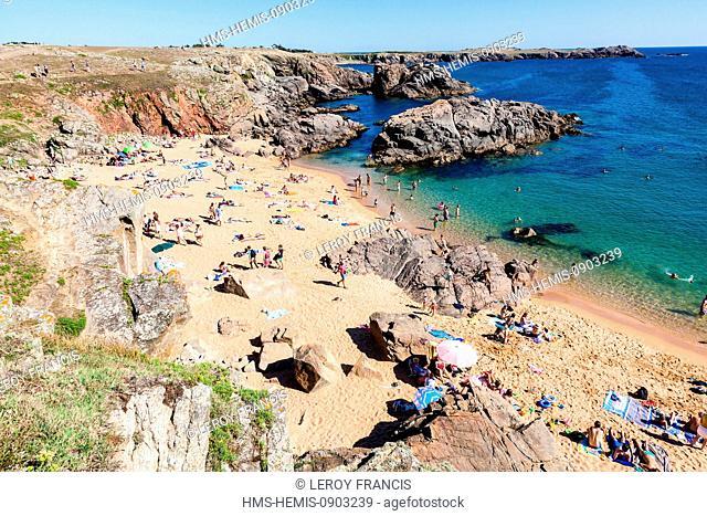 France, Vendee, Ile d'Yeu, Belle Maison beach