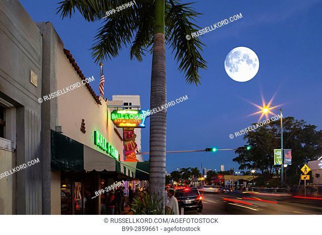 BALL AND CHAIN HISTORIC DANCE CLUB EIGHTH STREET LITTLE HAVANA MIAMI FLORIDA USA
