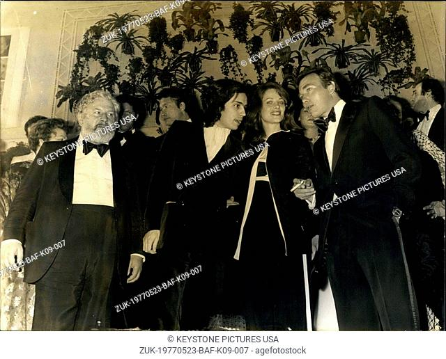 May 23, 1977 - P. Ustinov, E. Albert, C. Rampling, and Yves Boisset (Credit Image: © Keystone Press Agency/Keystone USA via ZUMAPRESS.com)