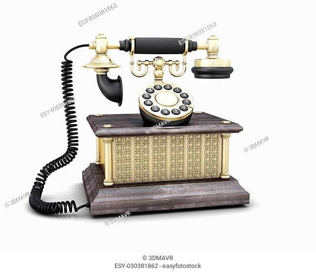 Ancient phone with a push-button set of number
