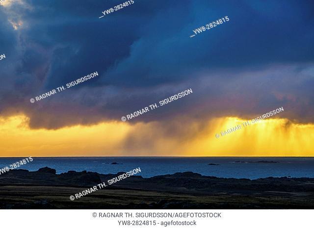 Rainy landscape, Western Iceland