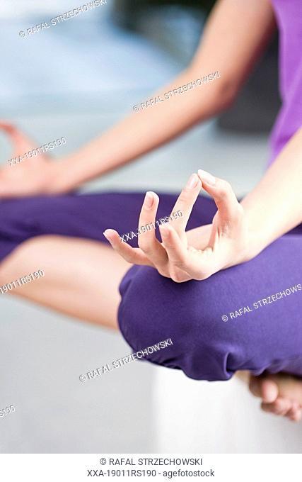Woman meditate